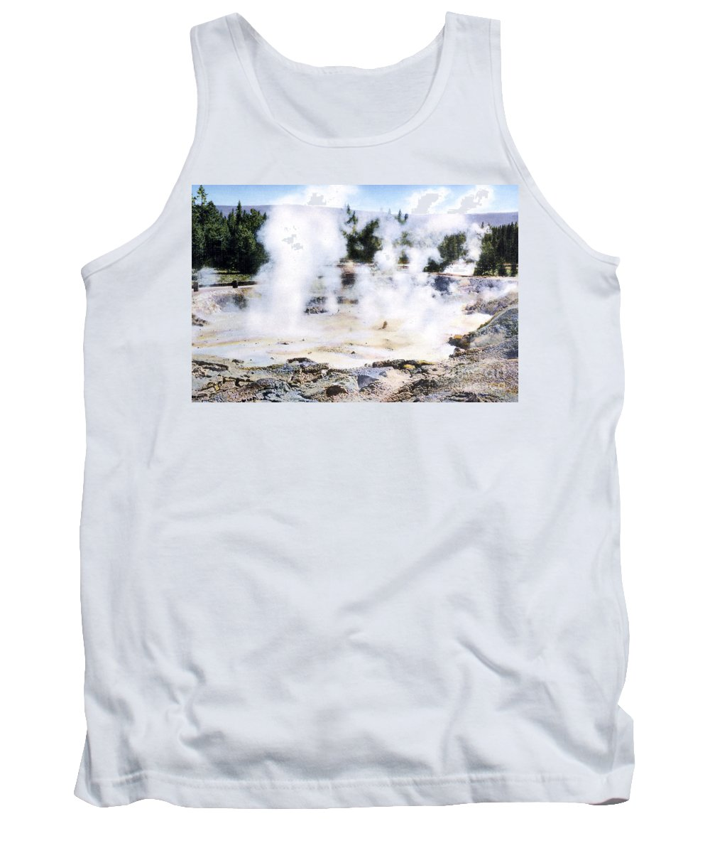 History Tank Top featuring the photograph Fountain Paint Pot Yellowstone Np by NPS Photo Frank J Haynes