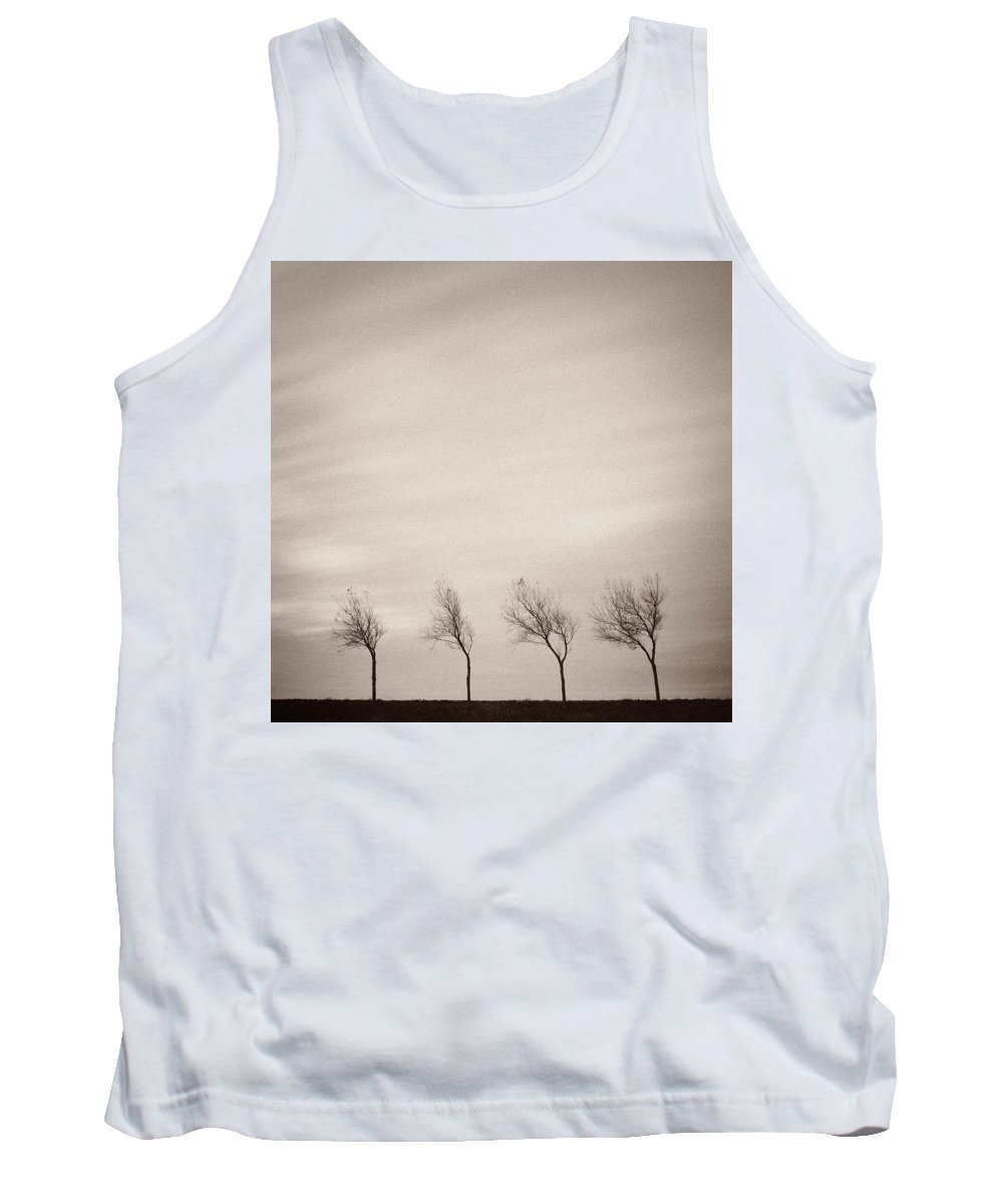 Trees Tank Top featuring the photograph Four Trees by Dave Bowman