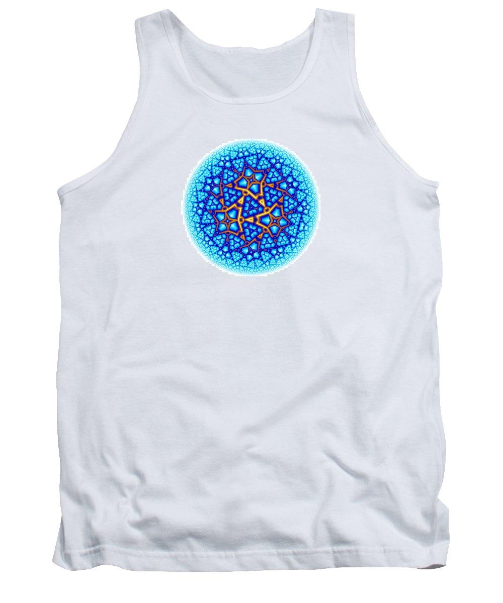 Mandala Tank Top featuring the digital art Fractal Escheresque Winter Mandala 8 by Hakon Soreide