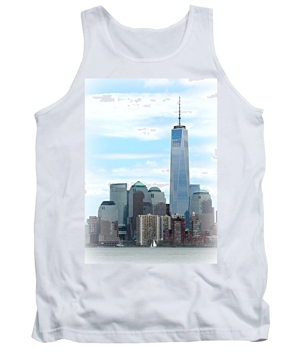 9-11 Tank Top featuring the photograph Freedom Rising by Stephen Stookey