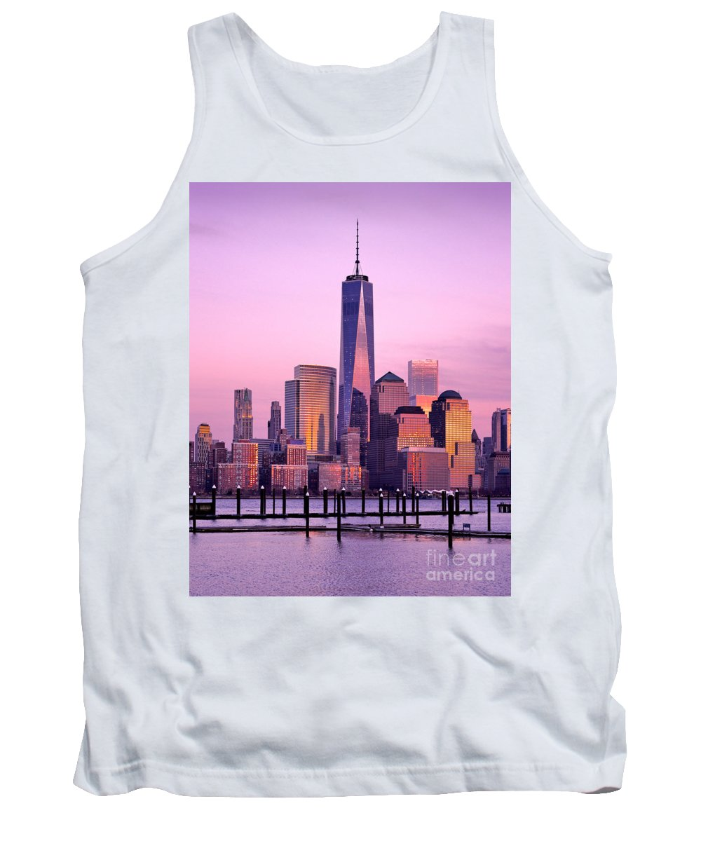 8 Spruce Street Tank Top featuring the photograph Freedom Tower Nyc by Jerry Fornarotto