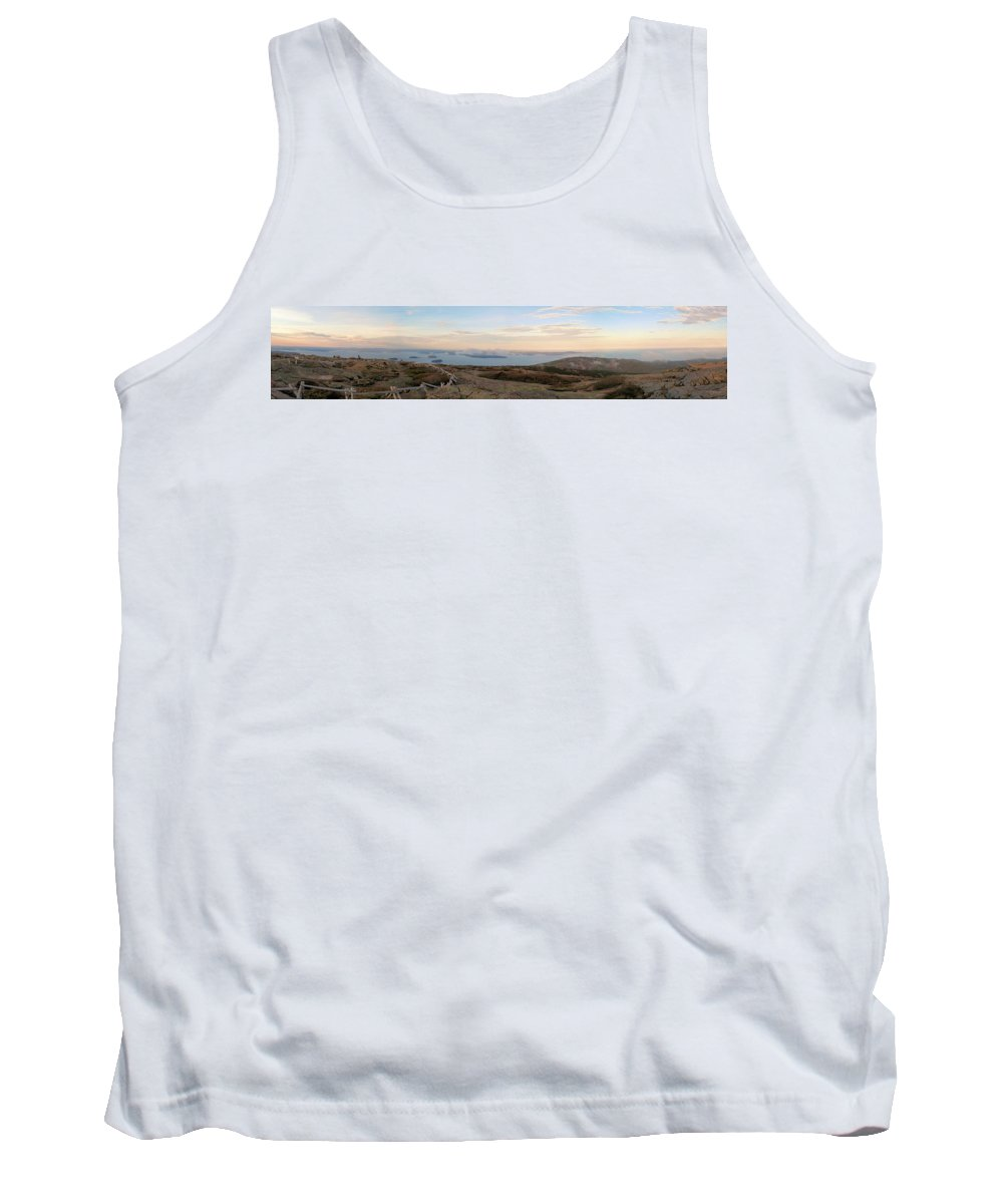 Panorama Tank Top featuring the photograph Frenchmans Bay From Cadillac Mountain by Robert McCulloch