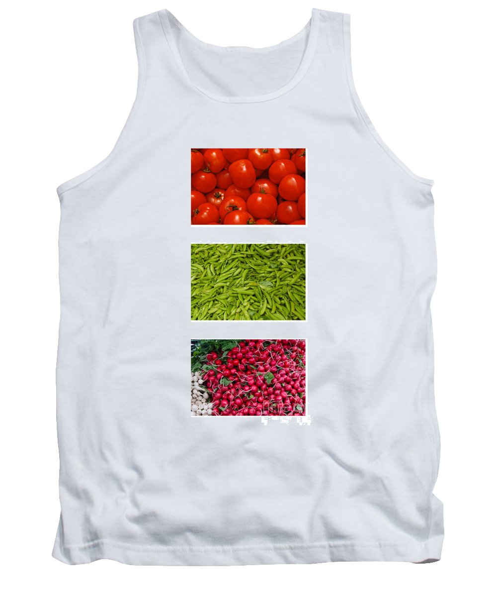 Tomato Tank Top featuring the photograph Fresh Vegetable Triptych by Thomas Marchessault