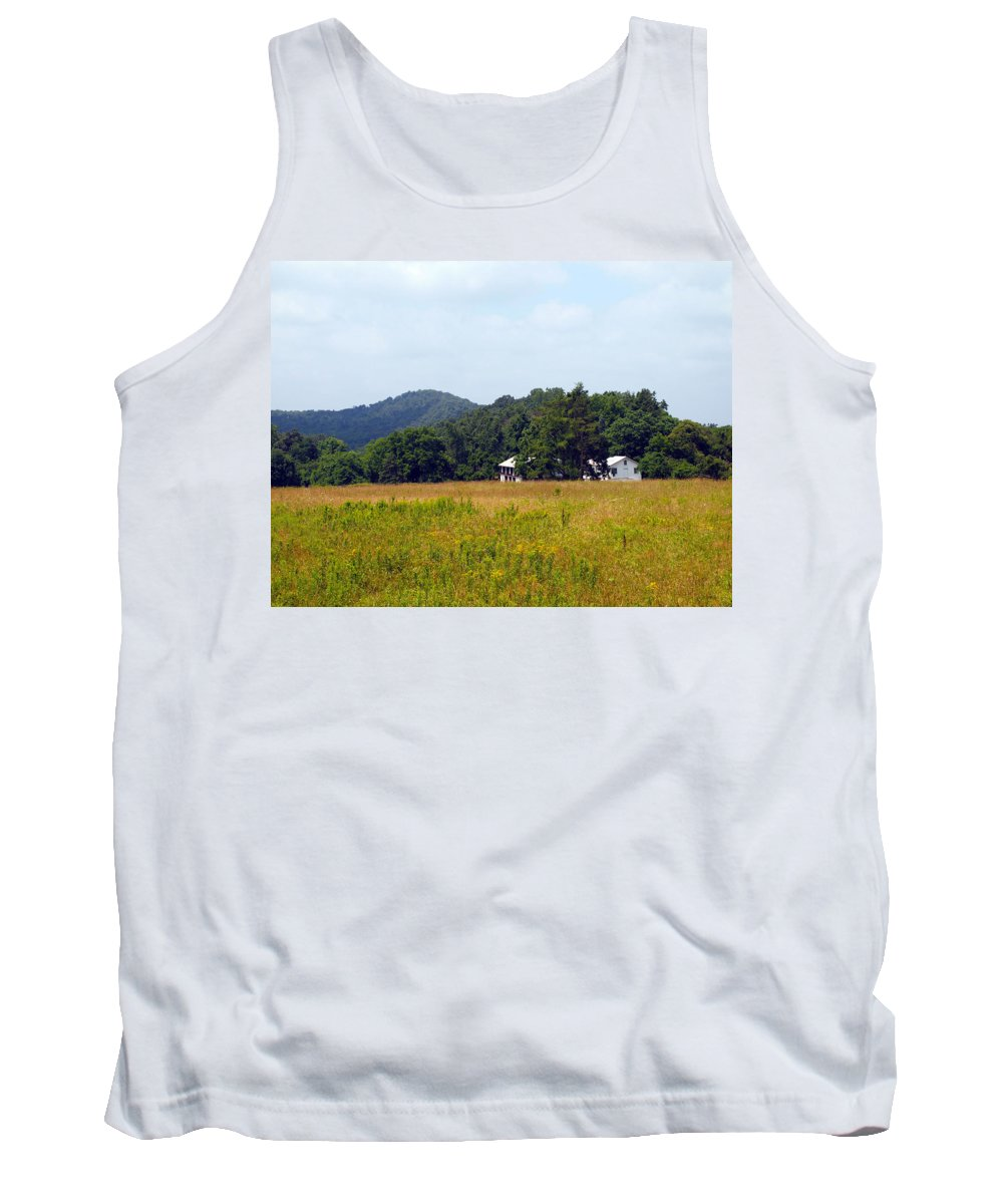 Cabins Tank Top featuring the photograph From A Distance by Robert Margetts