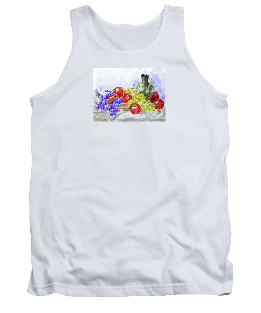 Fruit Tank Top featuring the painting Fruit After Him by Jasna Dragun