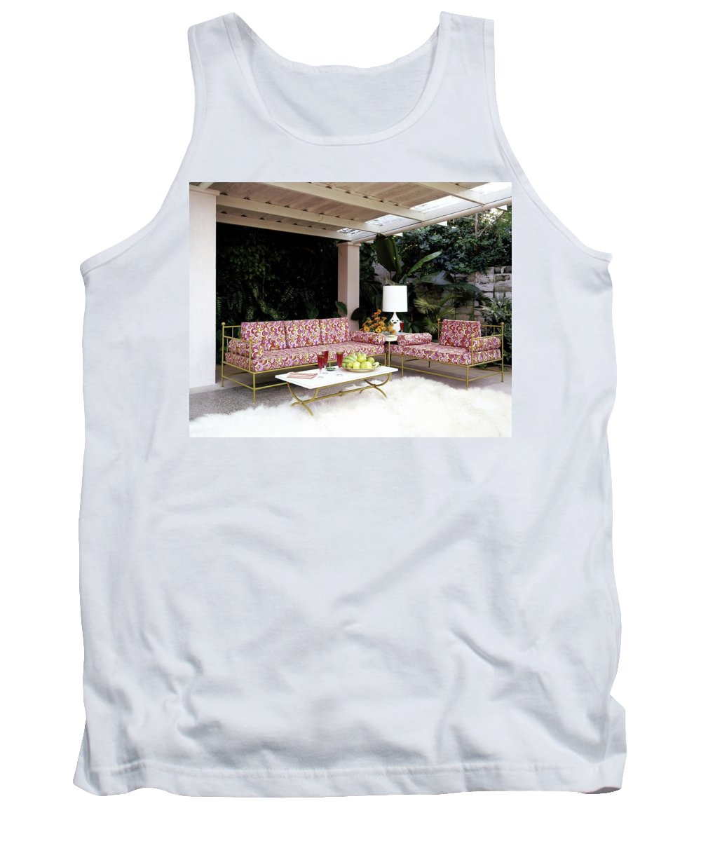 Garden Tank Top featuring the photograph Garden-guest Room At The Chimneys by Tom Leonard