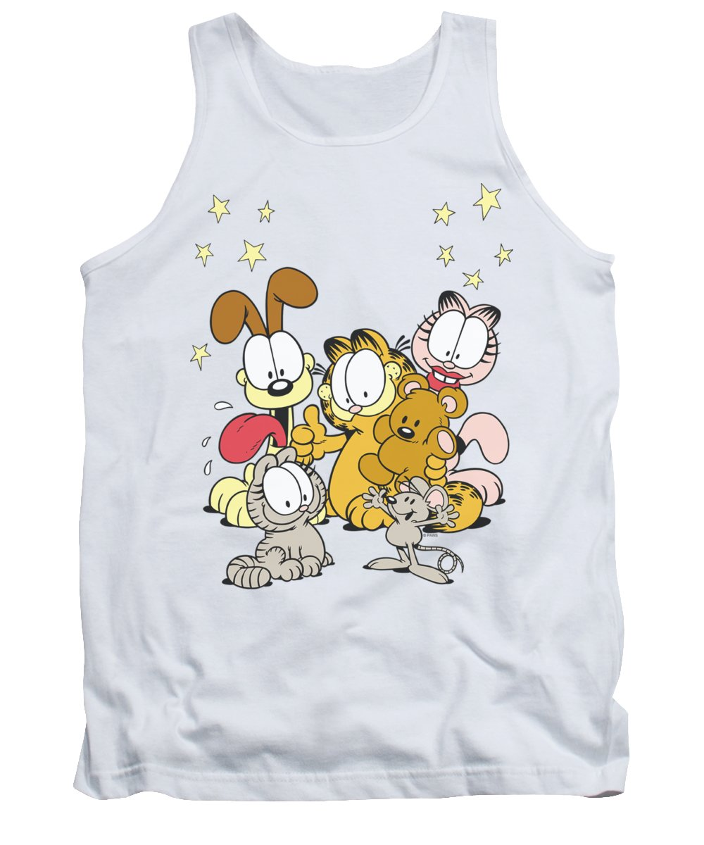 Garfield Tank Top featuring the digital art Garfield - Friends Are Best by Brand A