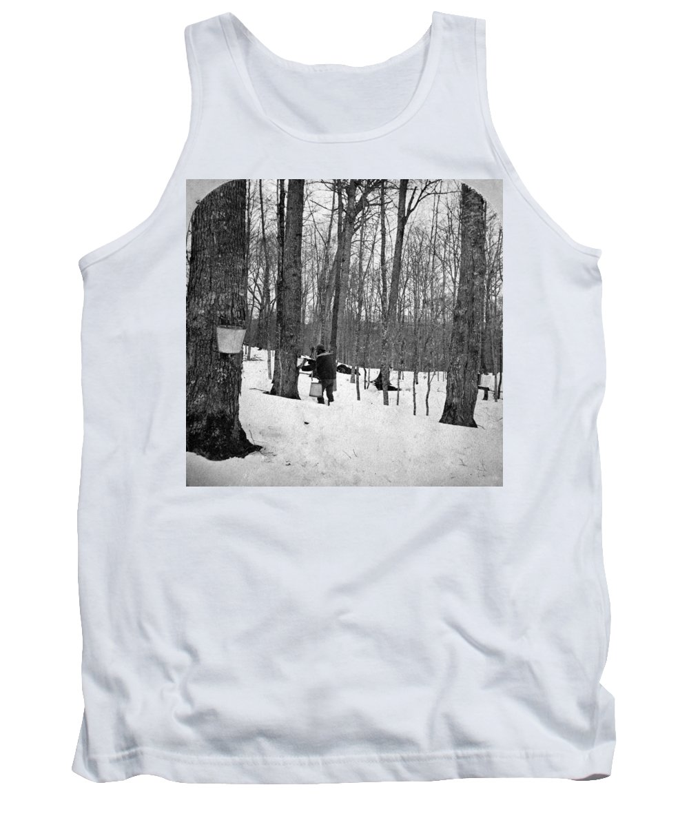 1890 Tank Top featuring the painting Gathering Sap, C1900 by Granger