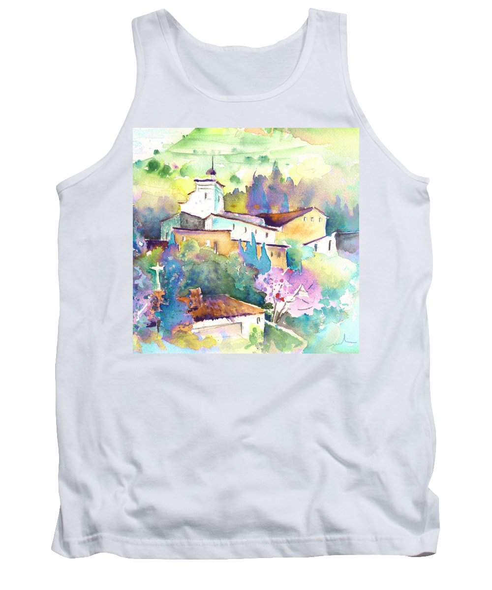 Travel Tank Top featuring the painting Gatova Spain 02 by Miki De Goodaboom
