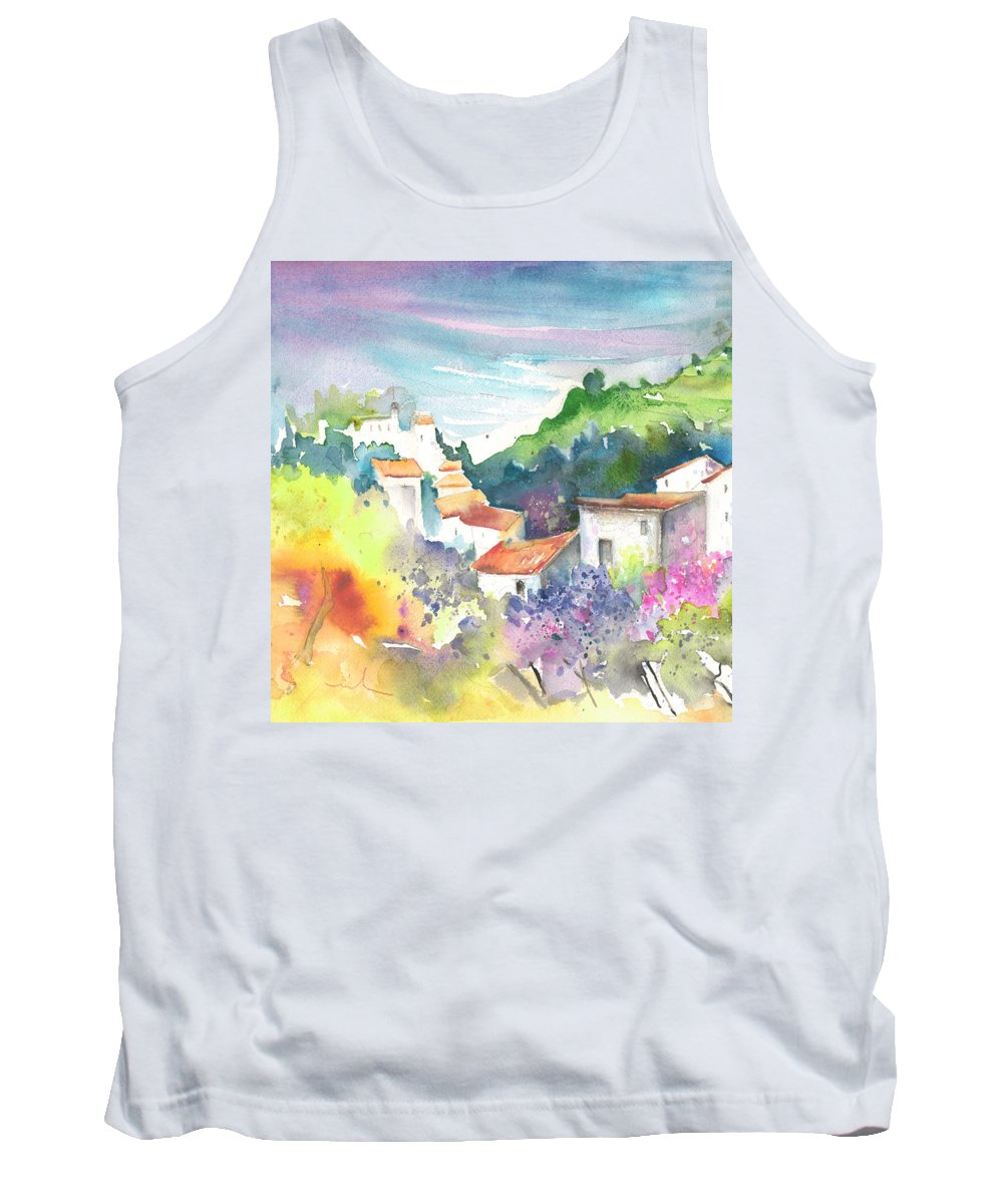 Spain Tank Top featuring the painting Gatova Spain 03 by Miki De Goodaboom