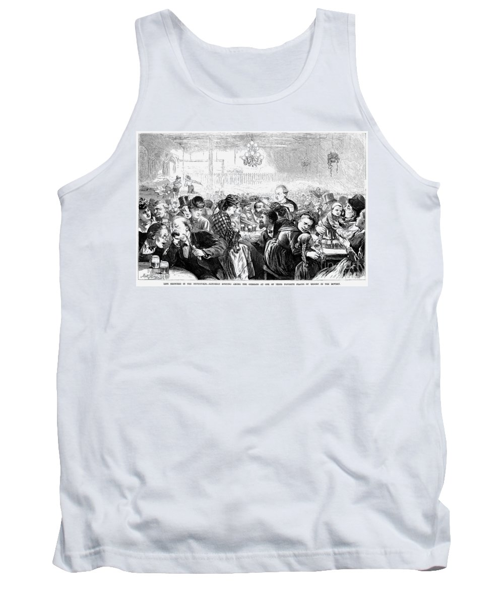 1872 Tank Top featuring the photograph German Beer Hall by Granger