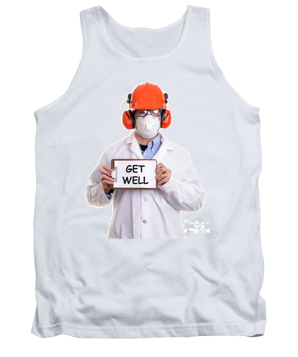 Custom Tank Top featuring the photograph Get Well by Edward Fielding
