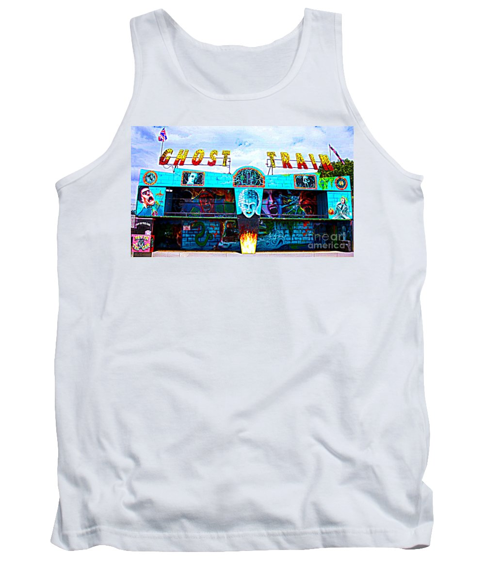 All The Fun Of The Fair Tank Top featuring the photograph Ghost Train by Terri Waters