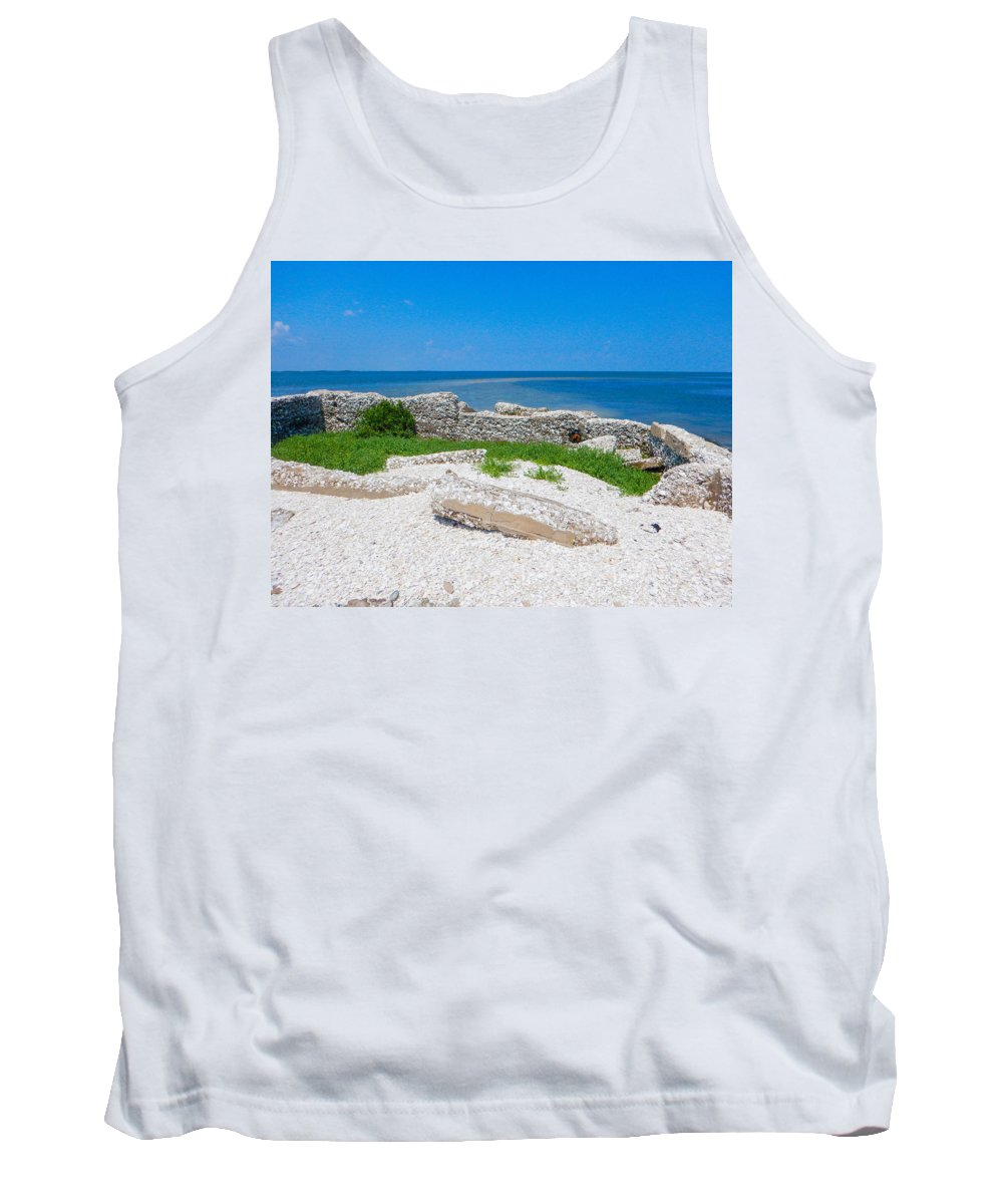Core Sound Tank Top featuring the photograph Ghosts In The Courtyard by Paula OMalley