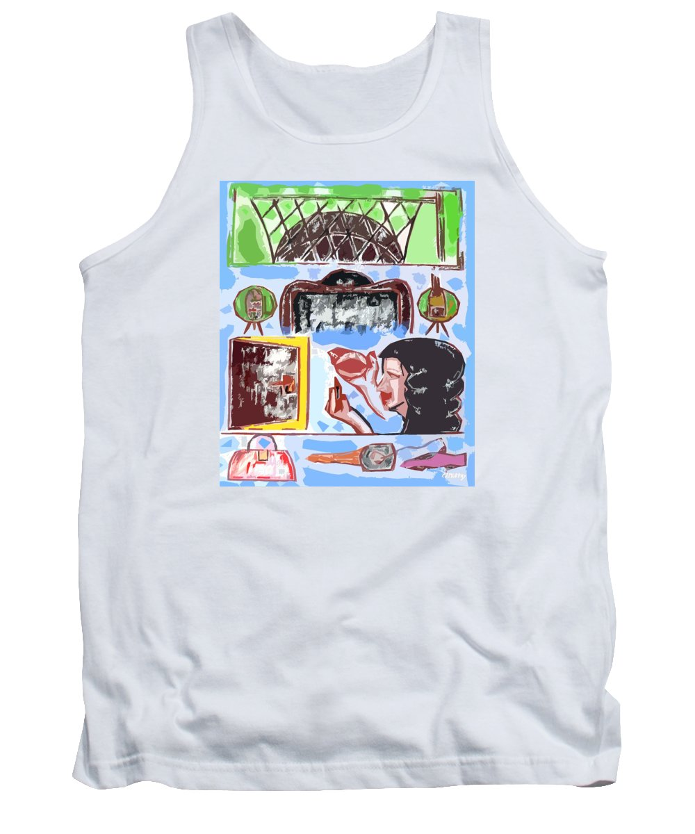 Birthday Tank Top featuring the painting Girls Night Out by Patrick J Murphy