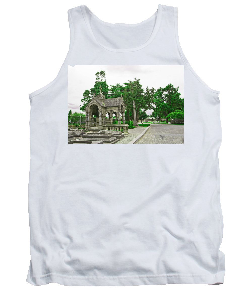 Dublin Tank Top featuring the photograph Glasnevin Cemetery 2 by Alex Art and Photo