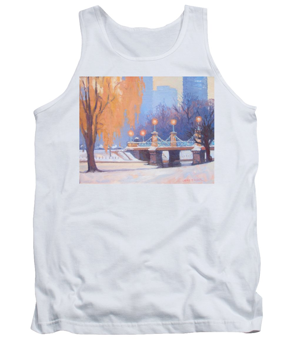 Boston Tank Top featuring the painting Glow On The Bridge by Dianne Panarelli Miller
