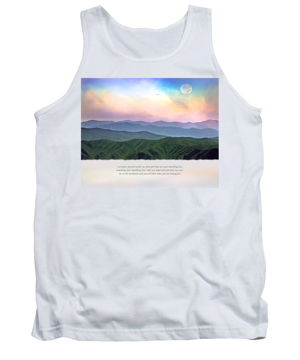 Smoky Mountains Tank Top featuring the photograph Go To The Mountains by Stephen Warren