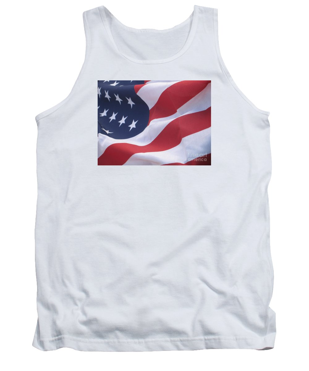 Photography Tank Top featuring the photograph God Bless America by Chrisann Ellis
