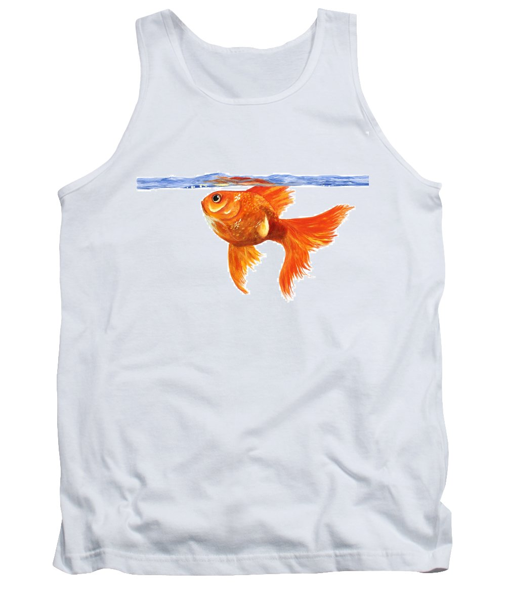Goldfish Tank Top featuring the painting Goldfish by Donna Tucker