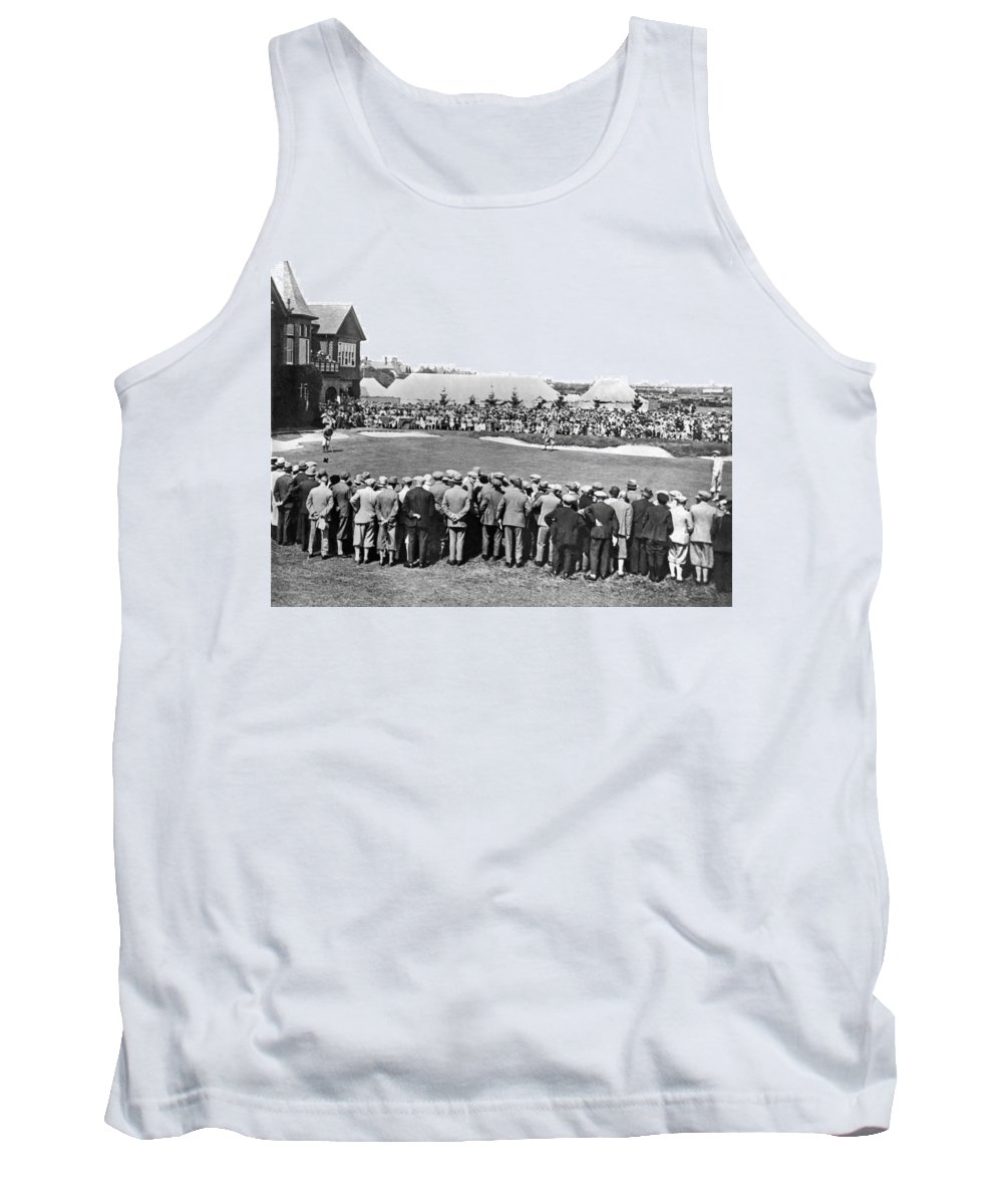 1920 Tank Top featuring the photograph Golf Play At St. Andrews. by Underwood Archives