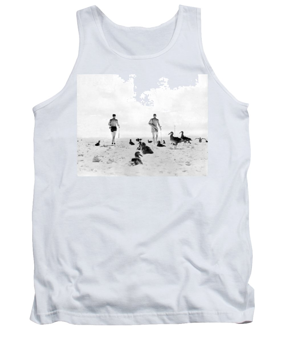 1930s Tank Top featuring the photograph Golf With Gooney Birds by Underwood Archives