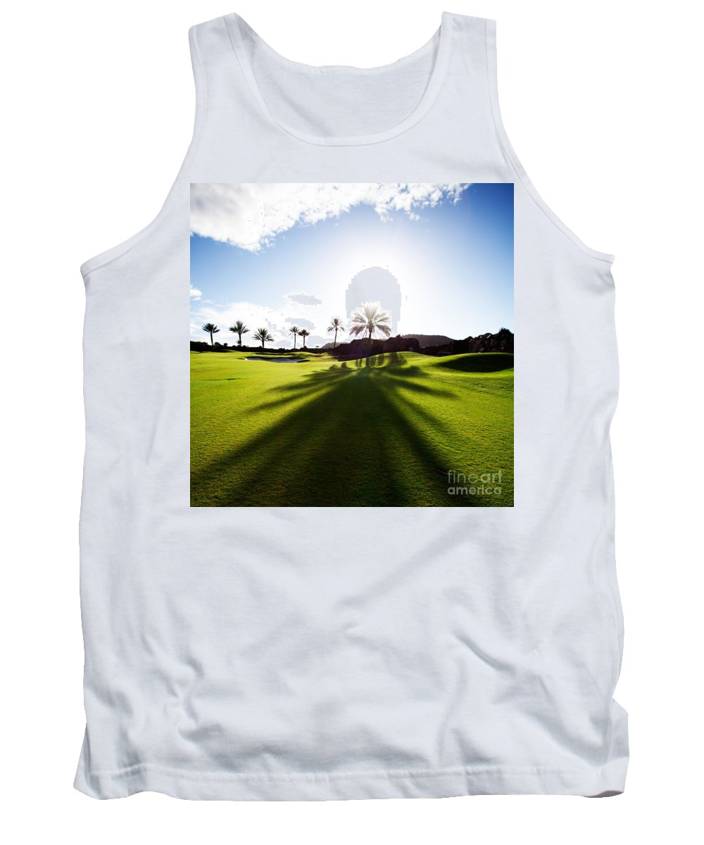 Golf Tank Top featuring the photograph Golfing by Kati Finell