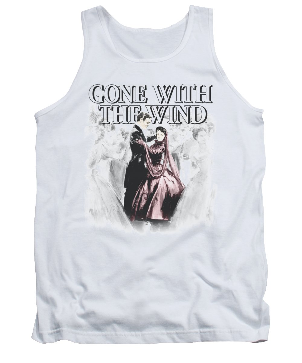 Gone With The Wind Tank Top featuring the digital art Gone With The Wind - Dancers by Brand A