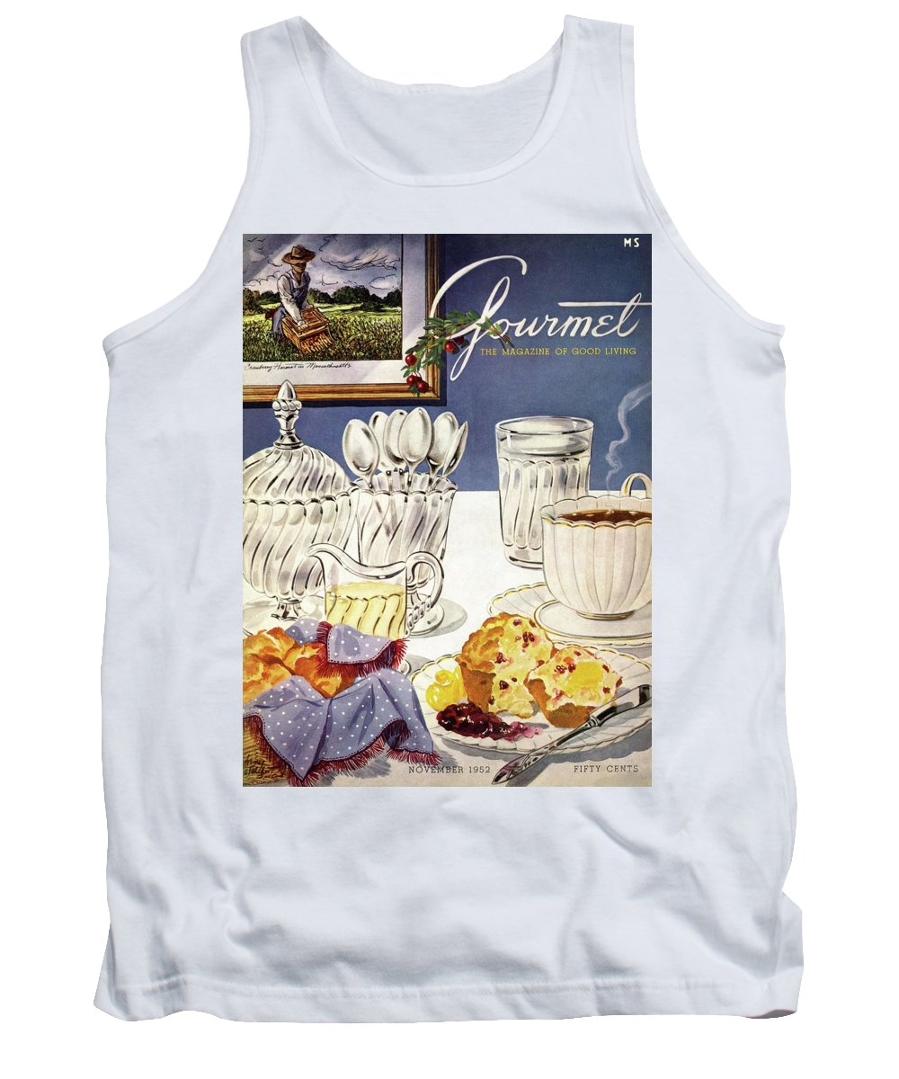 Food Tank Top featuring the photograph Gourmet Cover Illustration Of Cranberry Muffins by Henry Stahlhut