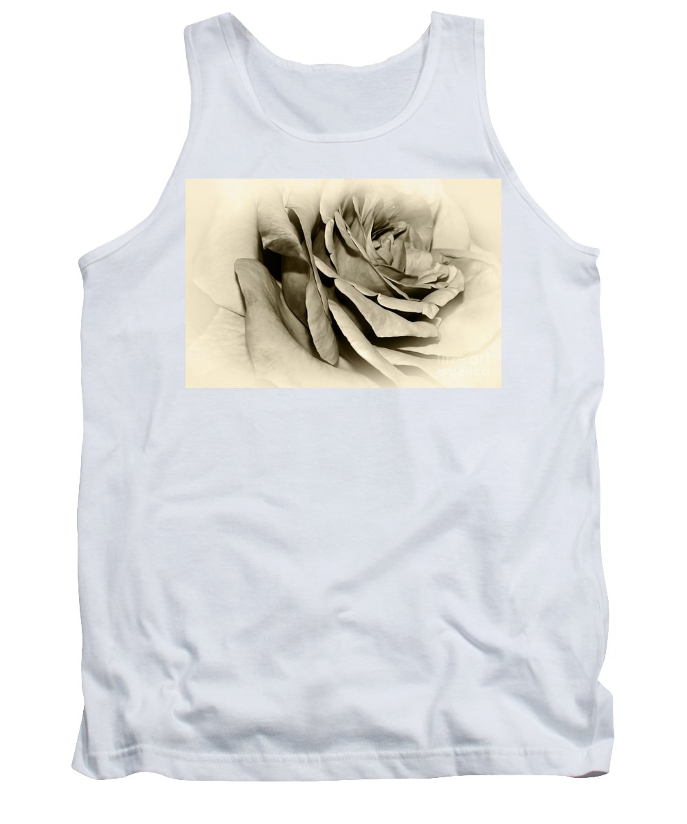 Photography Tank Top featuring the photograph Grandma's Rose by Kaye Menner