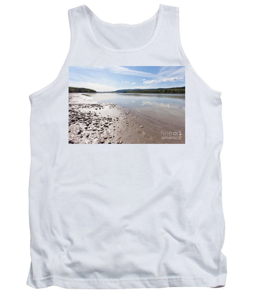 Alaska Tank Top featuring the photograph Gravel And Mud At Yukon River Near Dawson City by Stephan Pietzko