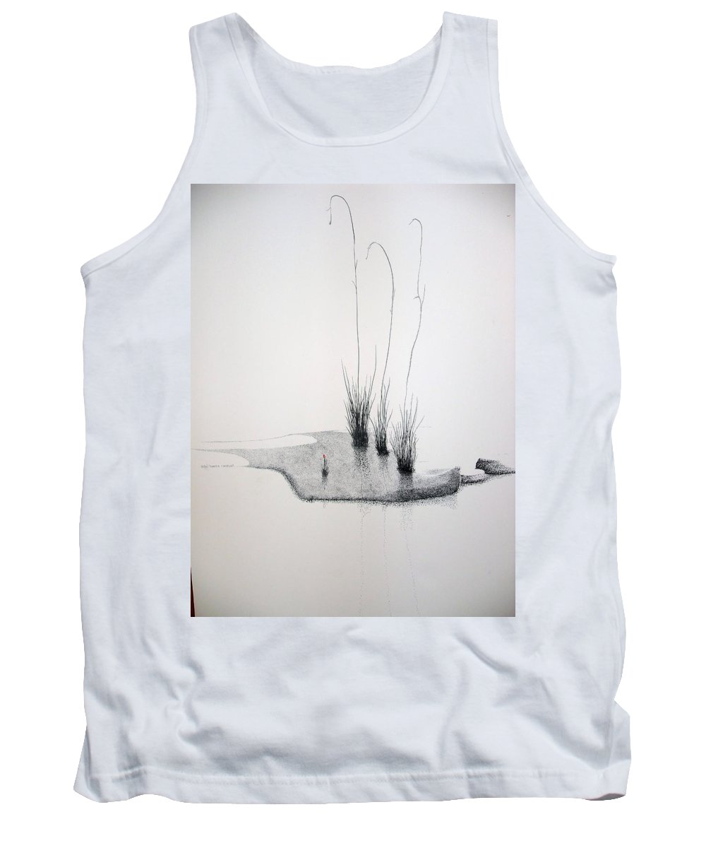Landscape Tank Top featuring the painting Greek Chorus by A Robert Malcom