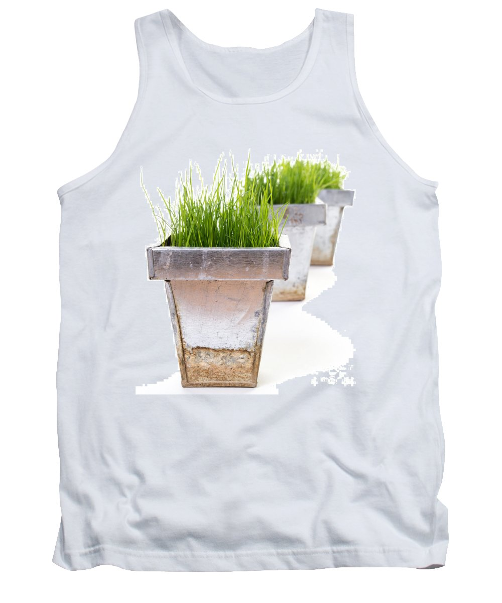 Spring Tank Top featuring the photograph Green Grass by Edward Fielding