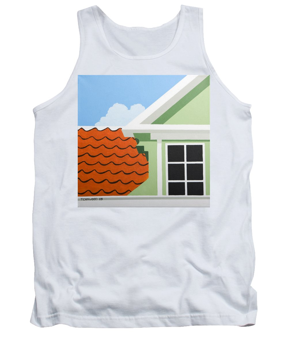 Painting Tank Top featuring the painting Green House by Trudie Canwood