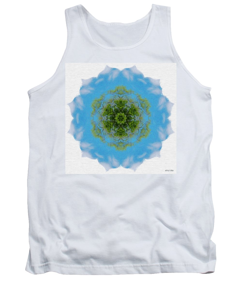 Abstract Tank Top featuring the painting Green Planet by Jeffrey Kolker