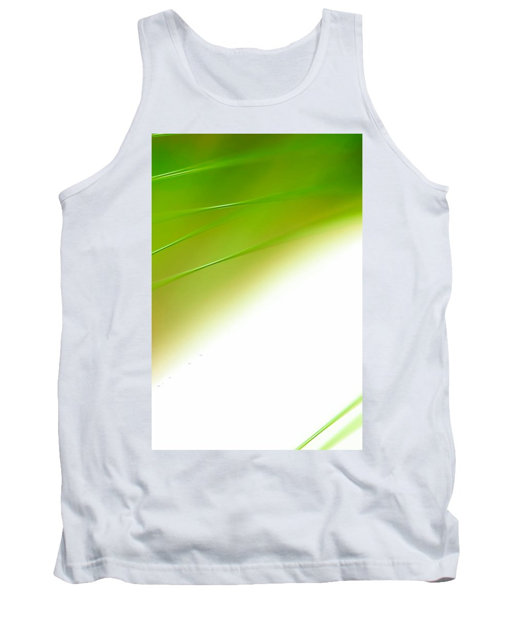 Abstract Tank Top featuring the photograph Green River by Dazzle Zazz