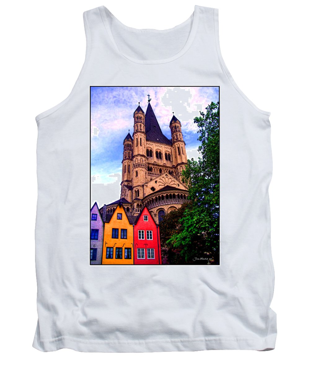 Gross St. Martin Tank Top featuring the photograph Gross St. Martin In Cologne Germany by Joan Minchak