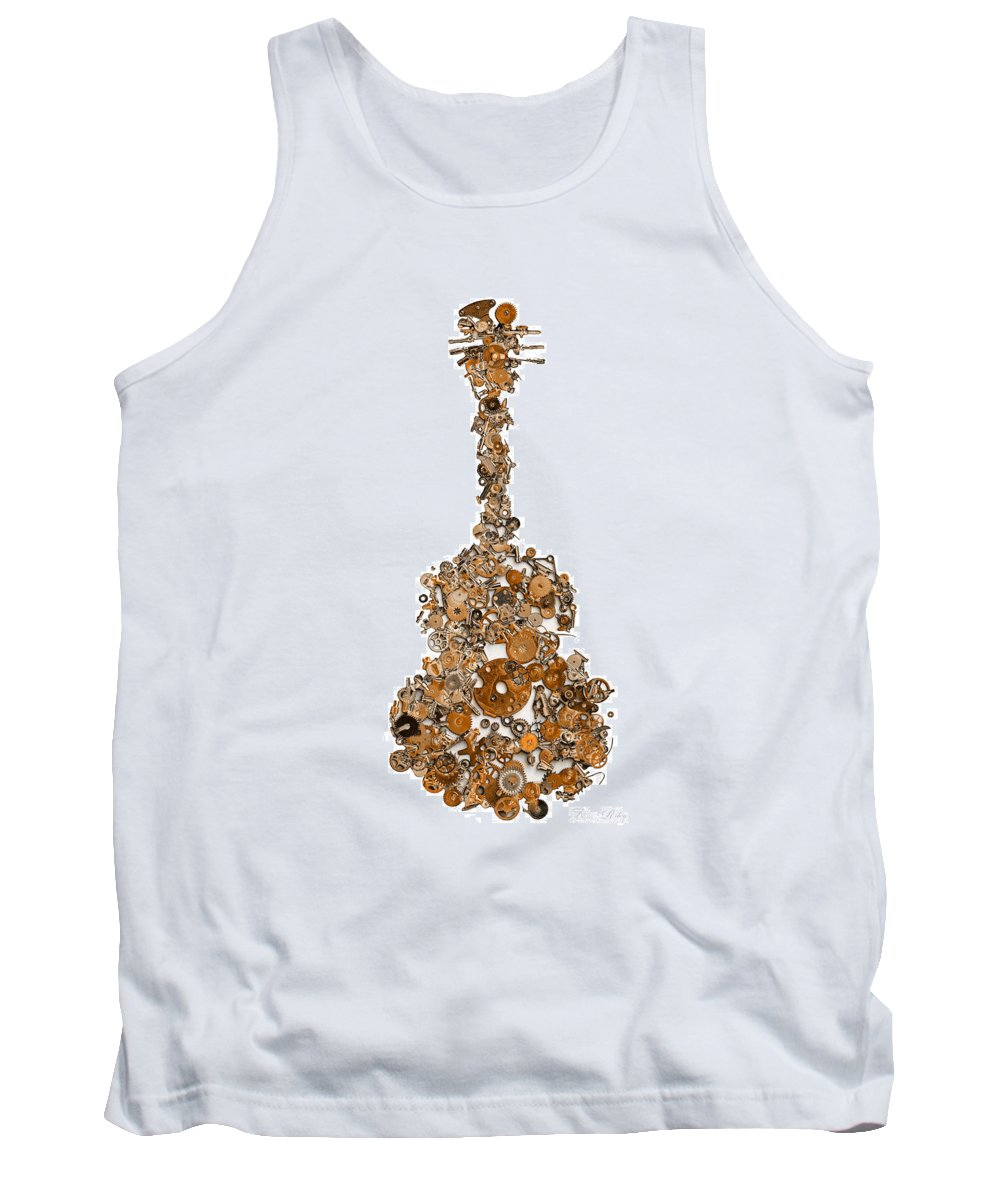 Guitar Tank Top featuring the photograph Guitar Works by Fran Riley
