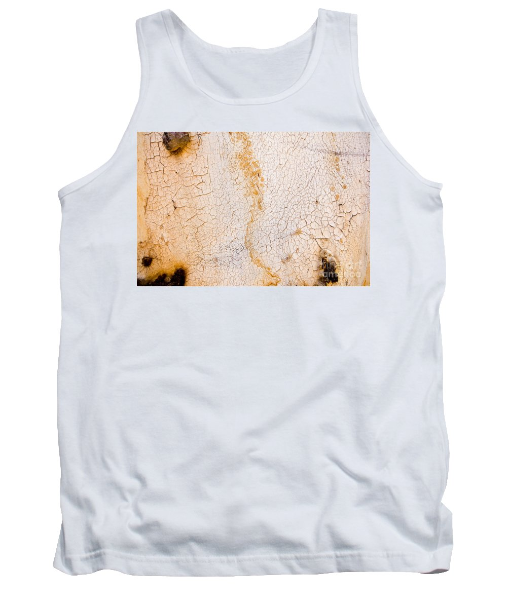 Bark Tank Top featuring the photograph Gum Tree Bark by Tim Hester