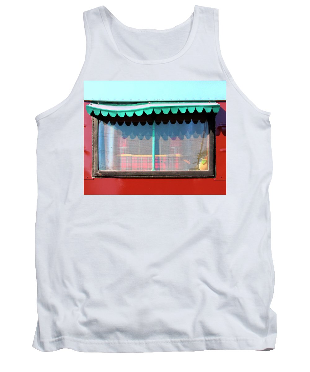 Airstream Tank Top featuring the photograph Gypsy Caravan Palm Springs by William Dey