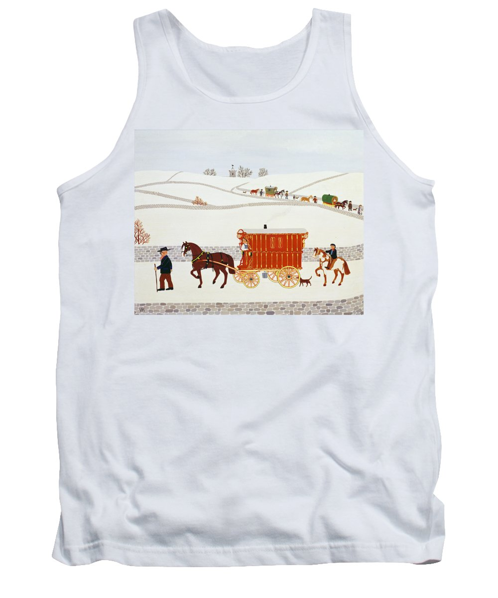 Horse Tank Top featuring the painting Gypsy Caravan by Vincent Haddelsey