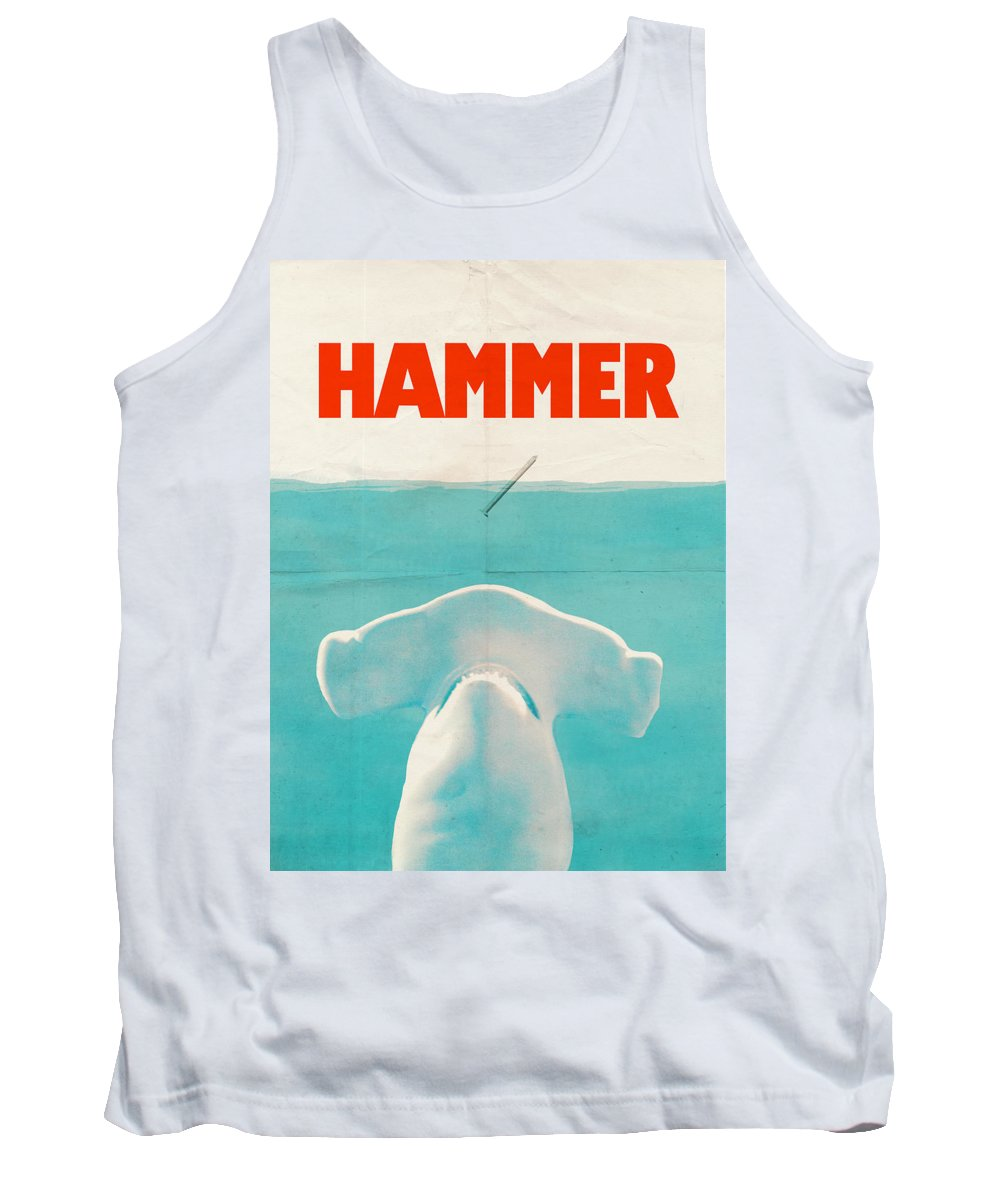 Jaws Tank Top featuring the drawing Hammer by Eric Fan