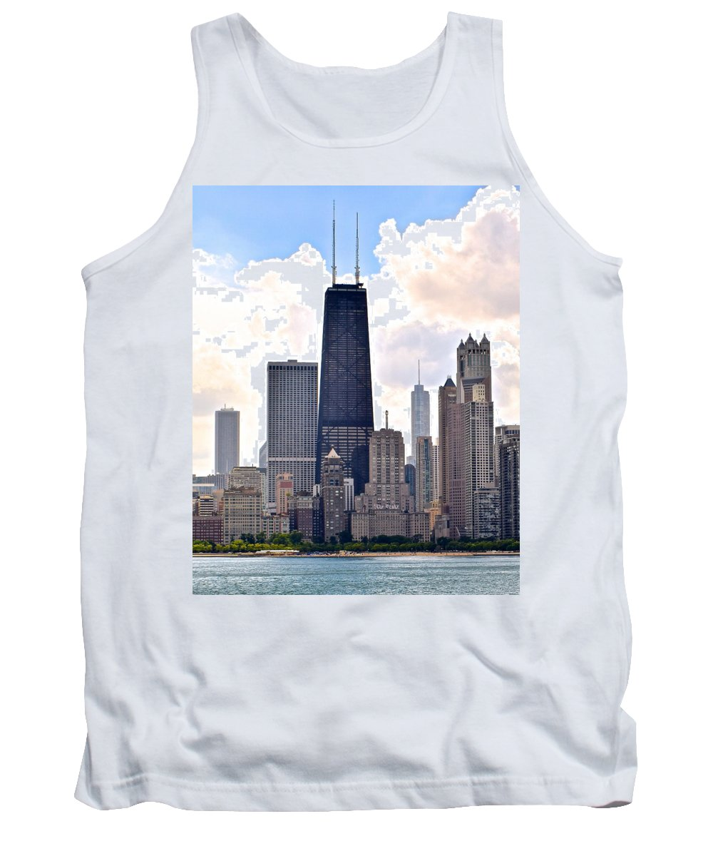 Hancock Tank Top featuring the photograph Hancock Building In Chicago by Frozen in Time Fine Art Photography