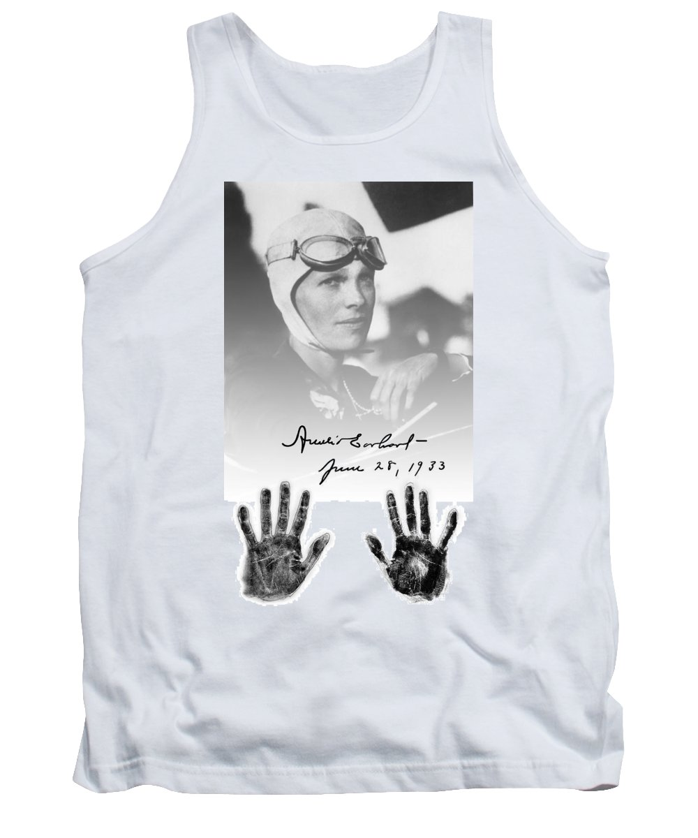 Amelia Tank Top featuring the digital art Hands Of Amelia by Daniel Hagerman