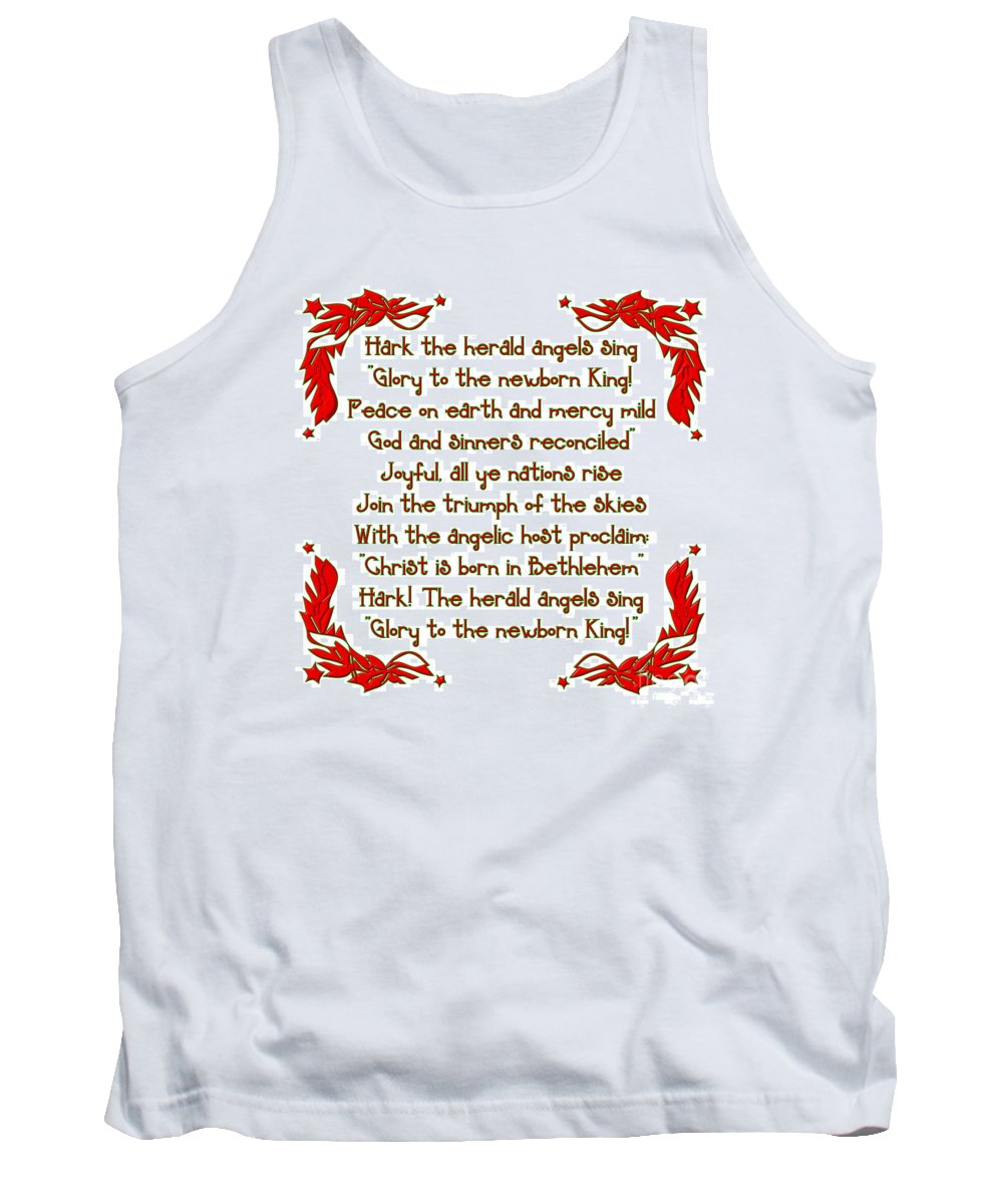 Stars Tank Top featuring the digital art Hark The Herald Angels Sing by Rose Santuci-Sofranko