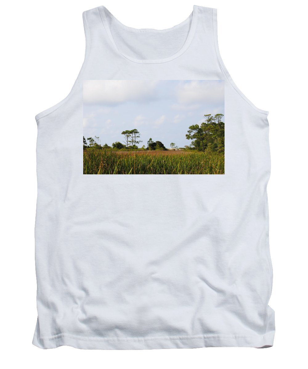 Hazy Trek To The Beach Tank Top featuring the photograph Hazy Trek To The Beach by Charlie Day