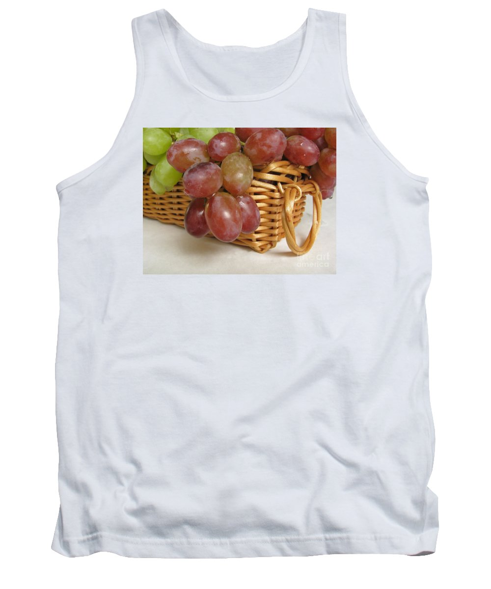 Grapes Tank Top featuring the photograph Healthy Snack by Ann Horn