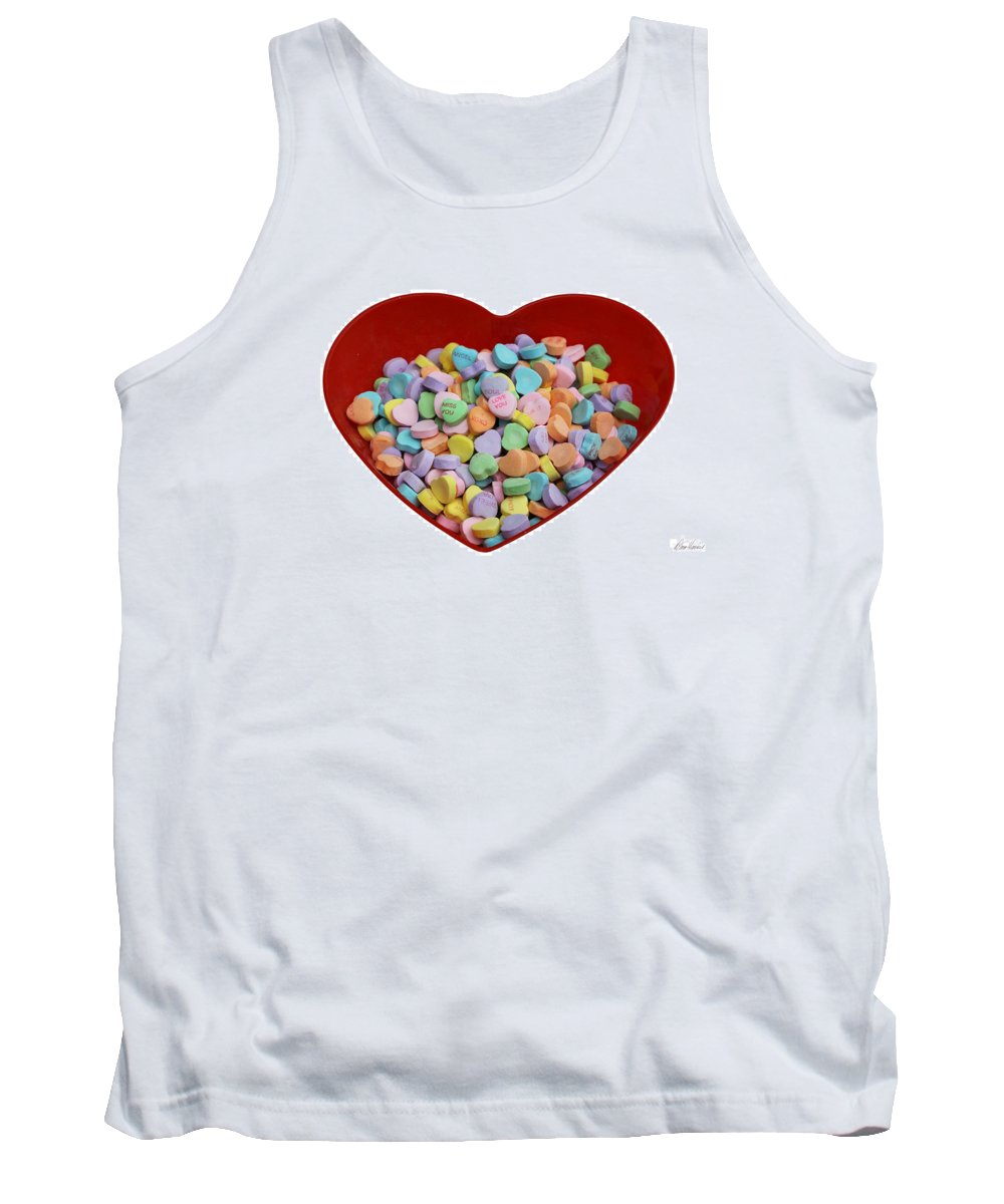 Valentines Tank Top featuring the photograph Heart Of Hearts by Diana Haronis