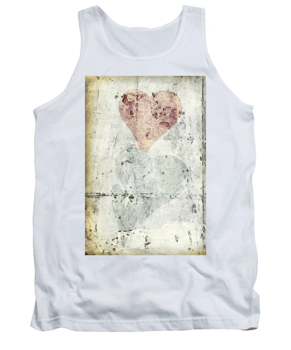 Abstract. Contemporary Tank Top featuring the photograph Hearts 2 by Edward Fielding