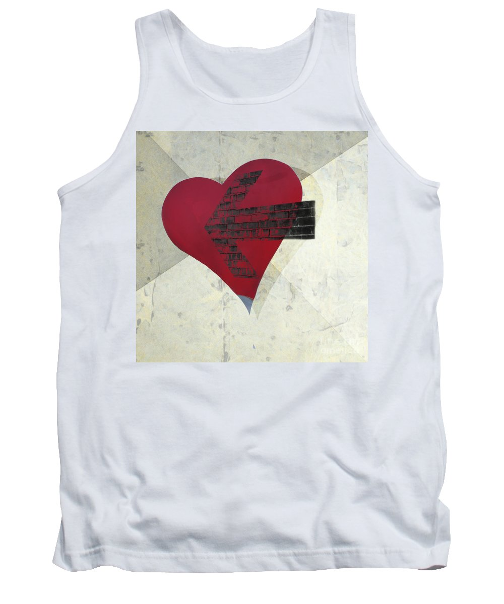 Arrow Tank Top featuring the photograph Hearts 7 Square by Edward Fielding